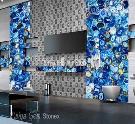 Blue Agate Slabs