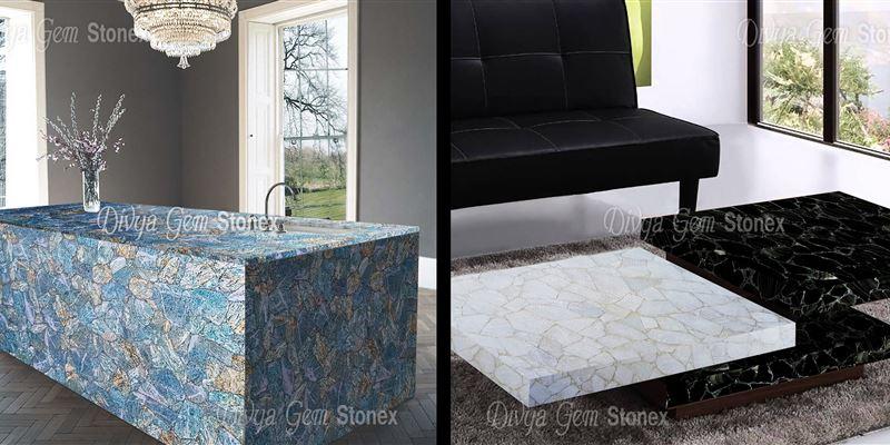 Semi Precious Stone Table Tops